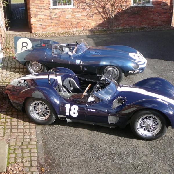 Maserati Birdcage and Jaguar D-Type